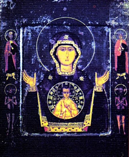 Icona della Madre di Dio del Segno XVII sec. Sergiev Posad a