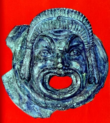 Mascherone romano in bronzo (Museo Civico)