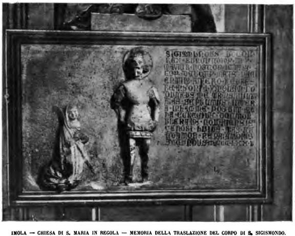 Chiesa di Santa Maria in Regola. Memoria traslazione del corpo di San Sigismondo