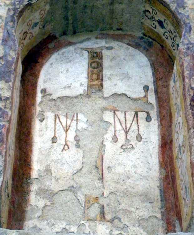San Salvatore, Spoleto Croce con Alpha e Omega, VI sec